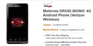 Droid Bionic Birthday: Review of Droid Bionic Best Deals $179 or $199 4 Renews   Backordered