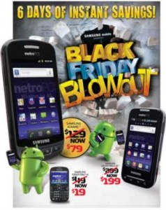 MetroPCS Black Friday Weekend Cyber Monday Deals: Samsung Galaxy Indulge $199, Admire $79 and Freeform $19