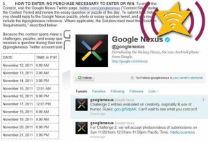 Samsung Galaxy Nexus Twitters Clues to Win Free SG Nexus & Release Date
