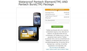 Pantech Burst & Element News: 4G LTE Deal $249.99 4 Dual Core Smartphone & Waterproof Tablet