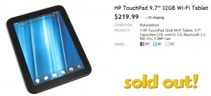 HP TouchPad Déjà Vu   Sold Out Again, ImmortaPad Free Promo