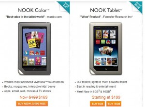 BN Nook Beats Kindle Fire with Price & Specs?