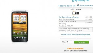 HTC One X Presale Started for 5/6 Release Date