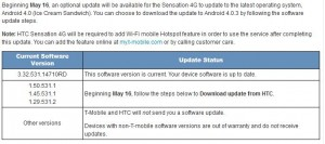 HTC Sensation 4G & HTC Amaze Update to Android 4.03 ICS 2Day