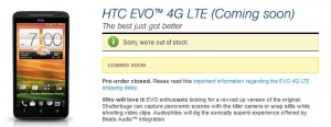 HTC EVO 4G LTE   In Some Stores 2 Day   Release Date TBA or Friday?