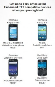 AT&T 2 PTT with Enhanced Push to Talk Samsung Galaxy S3, Rugby, S2 Skyrocket & BlackBerry Curve,