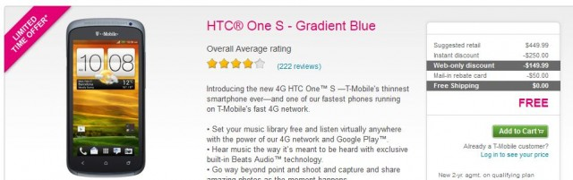 T Mobile New Unlimited Deals: HTC One S Free, Samsung Galaxy S3 Cheap with Free Activation Start 2Day