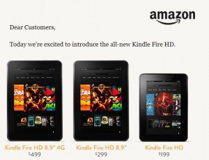 Kindle Fire HD & Basic Ads Fired for $15 More, Paper White Kindle Readers $20
