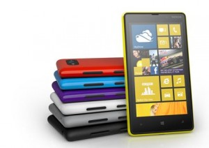 Windows Phone 8 Nokia Lumia 820 Can Be Used with Gloves or Nails in Purple
