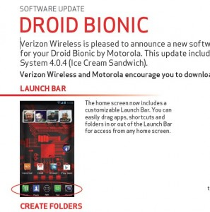 Droid Bionic Gets Android 4.0.4 Ice Cream Sandwich(ICS) Update