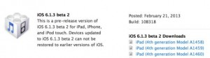 iPhone iOS 6.1.3  2 Fix 4 iPhone 3GS, 4, 4S, 5, iPad 2, 3, 4 Bugs